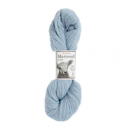 Nøstebarns merinoull 100g, Isblå