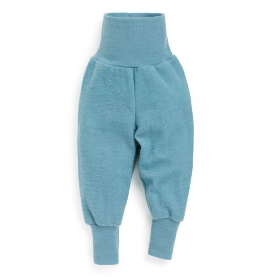 Babybukse i ullfrotté - Antikkblå