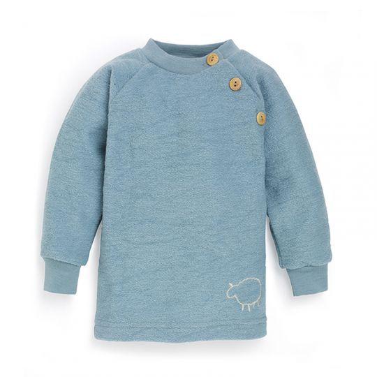 Babygenser i ullfrotté - Antikkblå