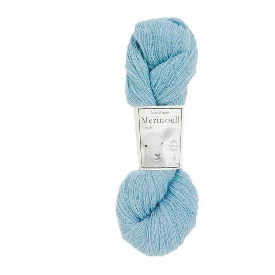 Nøstebarns merinoull 100g, Babyblå