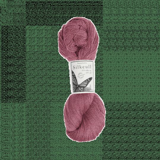 Silkeull 65% merino 35%silke 100g, Skogsbær