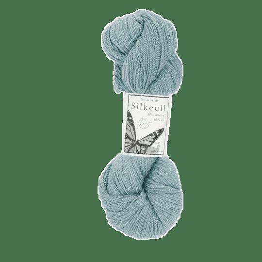 Silkeull 65% merino 35%silke 100g, Akvamarin
