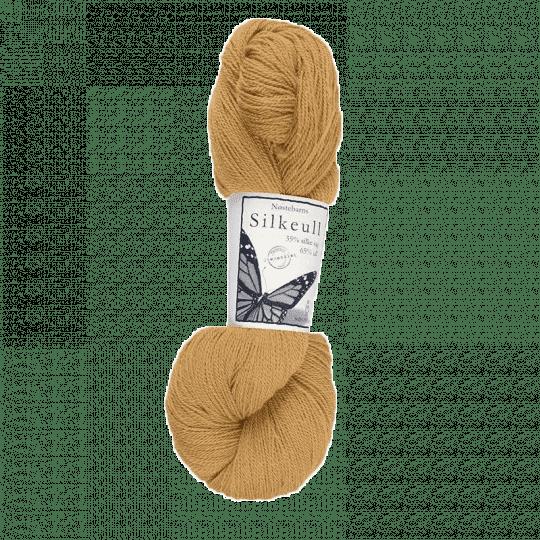 Silkeull 65% merino 35%silke 100g, Høstgul