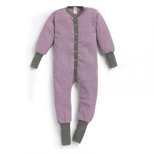 Hel dress i ull med silke - Røsslyng/natur