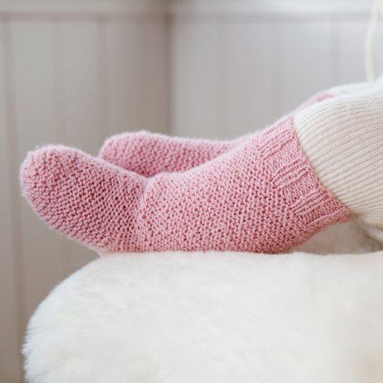 Oppskrift Sokker og strømper til baby  0-12 mnd