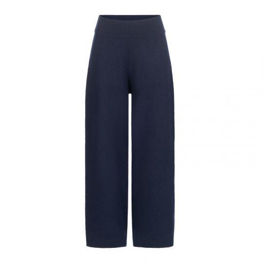 Bukse i kokt ull - Midnattsblå