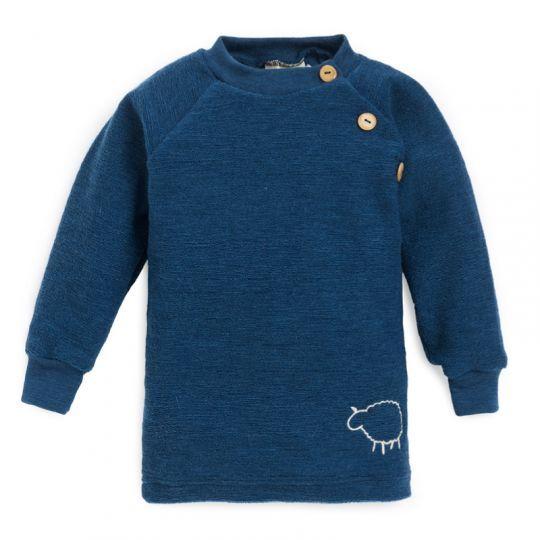 Babygenser i ullfrotté - Marineblå