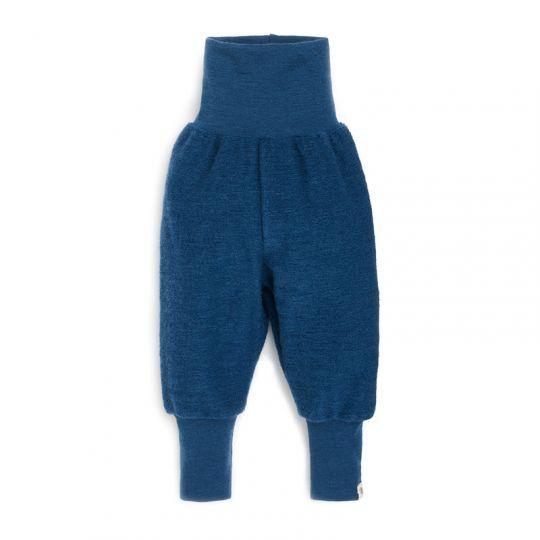 Babybukse i ullfrotté - Marineblå