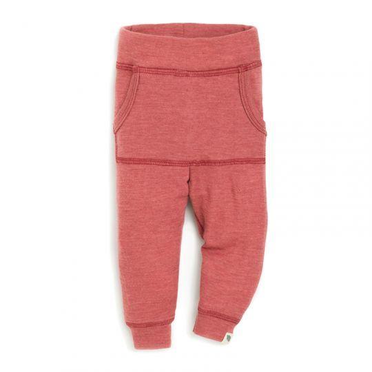Babybukse i ull med lomme - Rustrosa