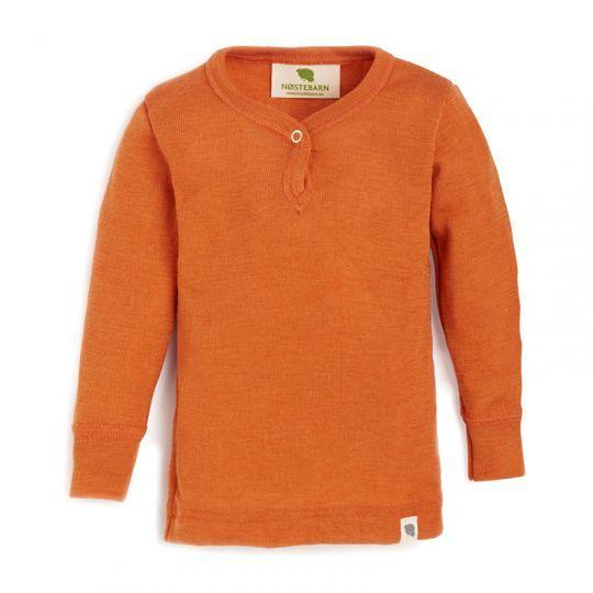 Babytrøye i ull med silke - Mandarin