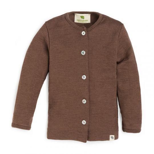 Babyjakke i ull med silke - Nøttebrun