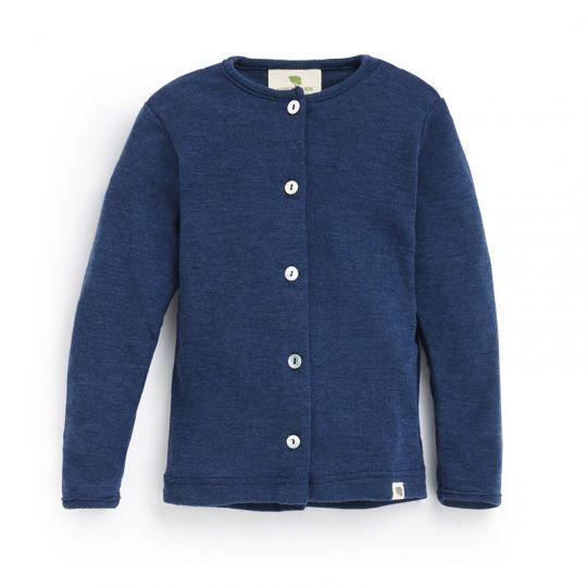 Babyjakke i ull med silke - Marineblå
