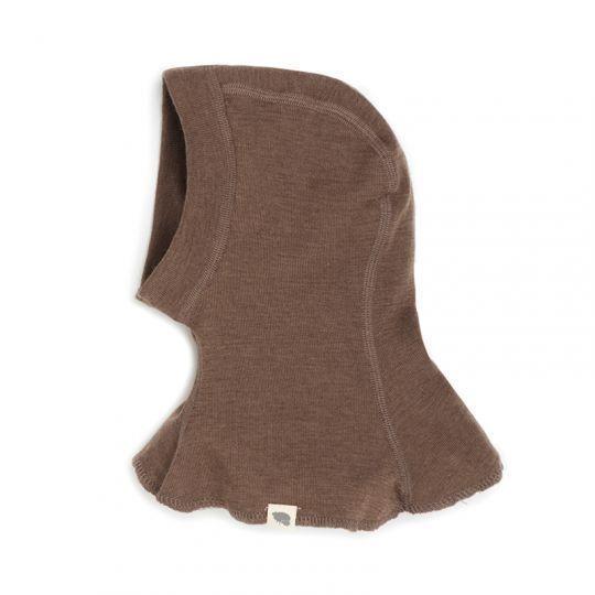 Finlandshette i ull med silke - Nøttebrun