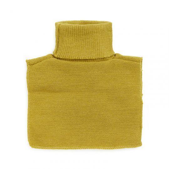 Hals one-size i ribbestrikket ull  Sennep