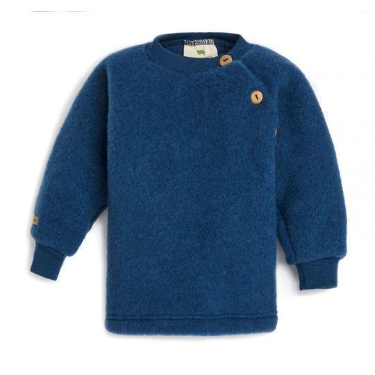 Babygenser i ullfleece - Marineblå