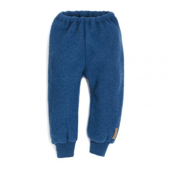Babybukse i ullfleece - Marineblå