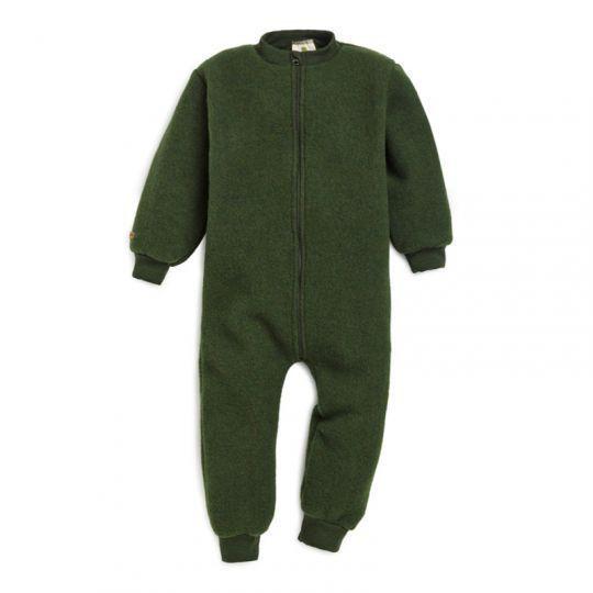 Hel dress i ullfleece - Skoggrønn
