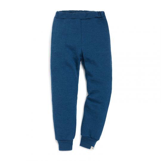Bukse i ullfrotté - Marineblå