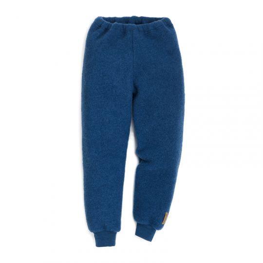 Bukse i ullfleece - Marineblå