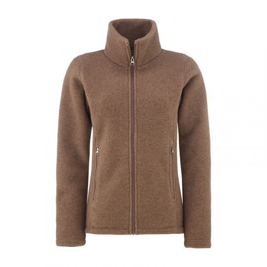 Fasongsydd jakke i ullfleece - Nøttebrun