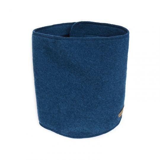 Lukke-hals i ullfleece Marineblå