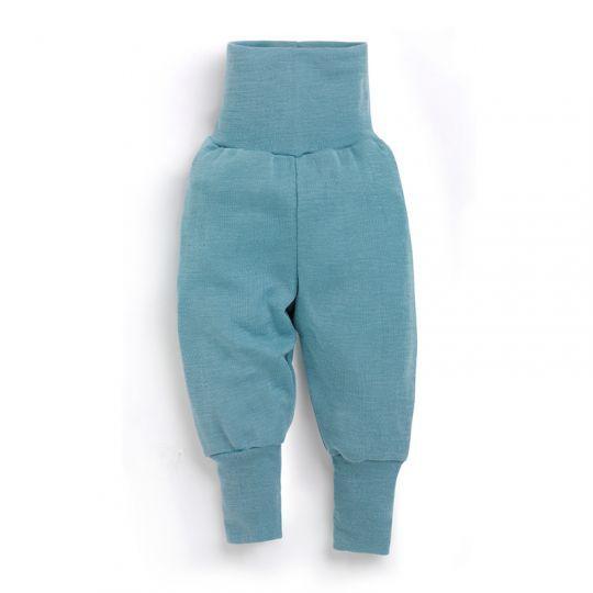 Babybukse i ull med silke - Antikkblå
