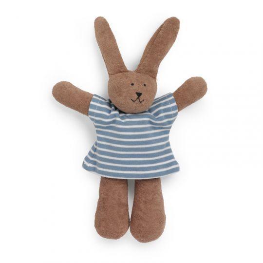 Kanin i bomullsfrotte - Blåstripet