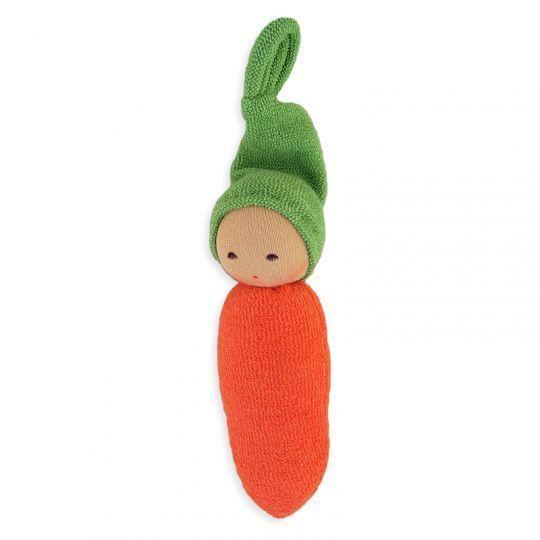 Gulrot-dukke bomullsfrotté - Oransje