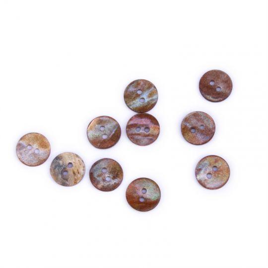 Perlemorknapp naturbrun
