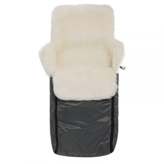 Vognpose i skinn med nylontrekk - Grå