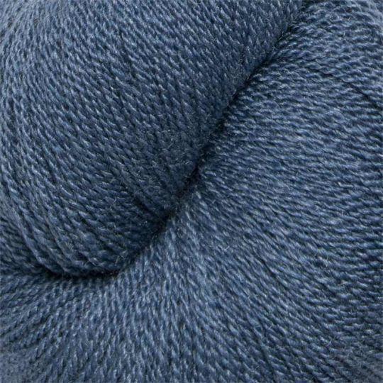 Silkeull 65% merino 35%silke 100g Aftenblå