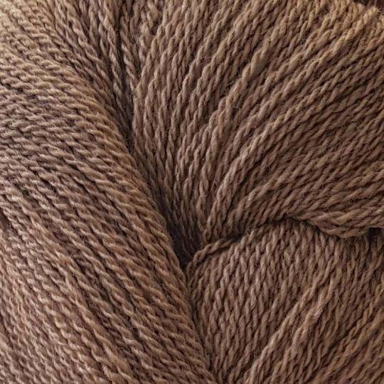 Silkeull 65% merino 35%silke 100g Nøttebrun