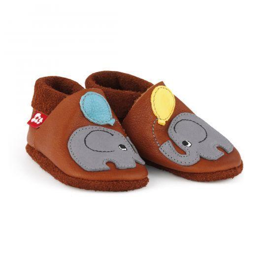 Skinntøfler - Cognac-Elefant