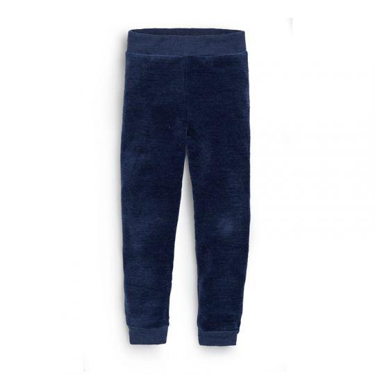 Velurbukse i ull med silke, baby - Marineblå