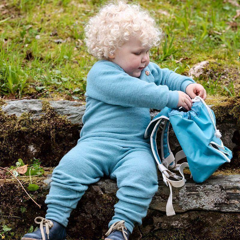 Babygenser i ullfrotté Antikkblå