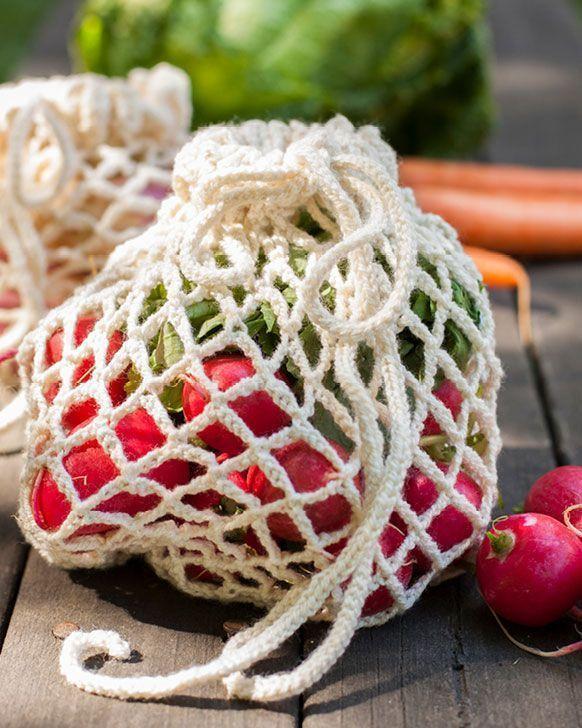 Gratis hekleoppskrift! Lag ditt eget frukt- og grønnsaksnett