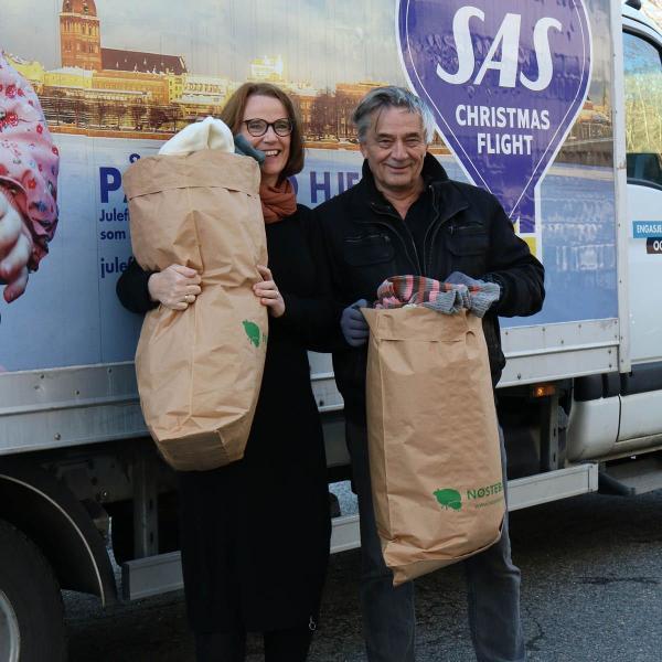 SAS Julefly - med Nøstebarn-ull i bagasjen