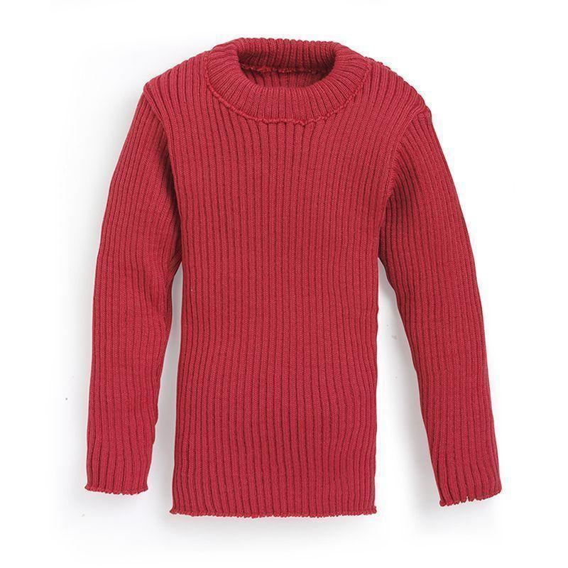 Ribbestrikket genser Rød DAME | H&M NO